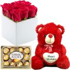 Send Rose with Bear and Chocolate To Cebu