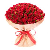 send classical 100 red roses in bouquet to cebu